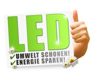 LEDs are energy efficient and environmentally friendly.